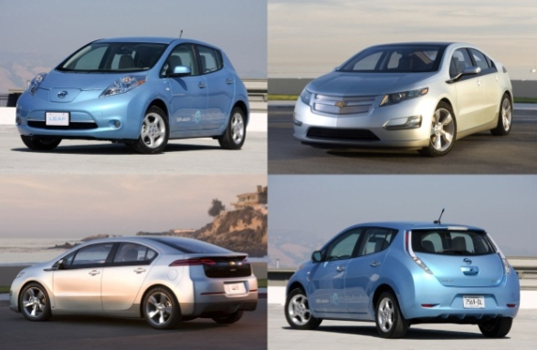 Nissan Leaf and Volt